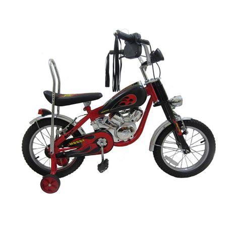 Roda Bantu Sepeda Anak United jual united sepeda anak 16 quot mogge hitam merah harga kualitas terjamin blibli