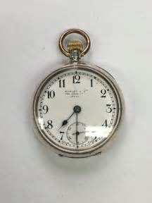 antiques atlas small silver pocket with omega movement