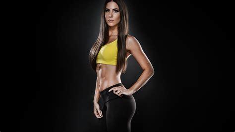 imagenes fitness girl women face brunettes long hair fitness model flat