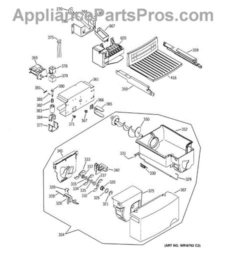 ge refrigerator maker parts diagram parts for ge gss25jfmbww maker dispenser parts