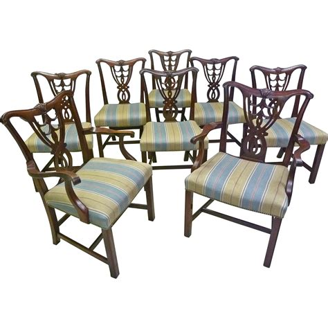 Chippendale Style Dining Chairs Set Of 8 Chippendale Style Dining Chairs From Antiquesonhanover On Ruby