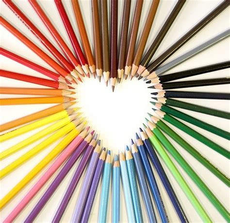 favourite colour color pencil colorful heart pencil rainbow image