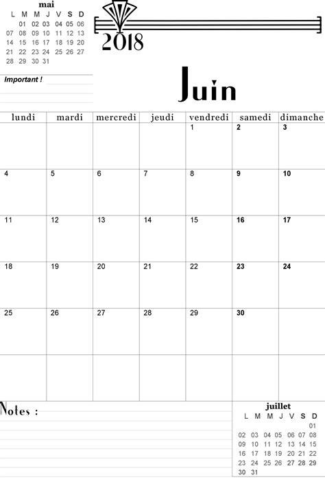 Calendrier 2018 Juin Calendrier 2017 2018 Mensuel 224 Imprimer Gratuitement