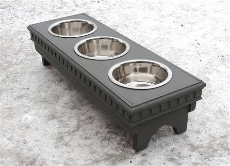 3 bowl feeder feeding stand bowl elevated feeder 3 bowl