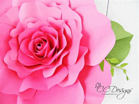 giant paper flowers pattern giant paper rose patterns tutorials diy rose flower
