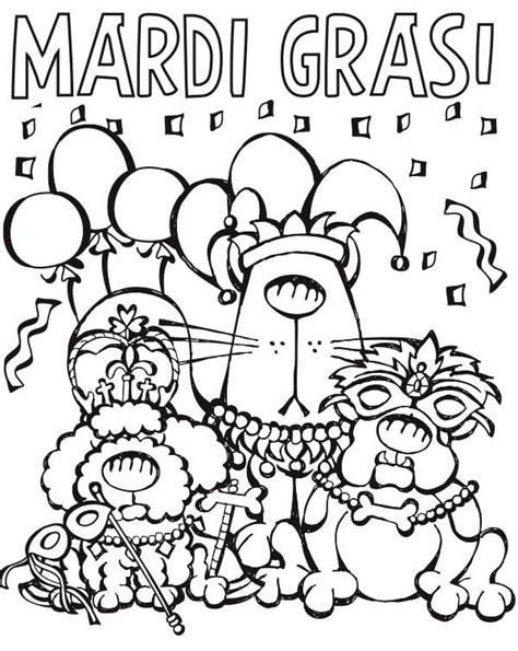 mardi gras coloring sheets characters parade on mardi gras coloring page
