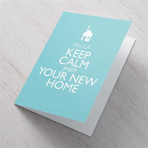 Enjoying Your Home by Personalised Card Keep Calm Enjoy Your New Home