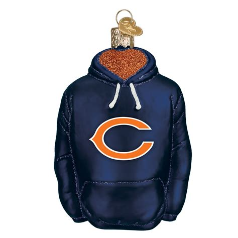 chicago bears ornament world 70603 chicago bears hoodie ornament