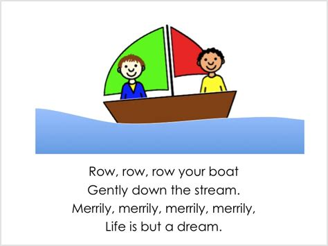 row row your boat song lyrics all play on sunday row row row your boat song cards