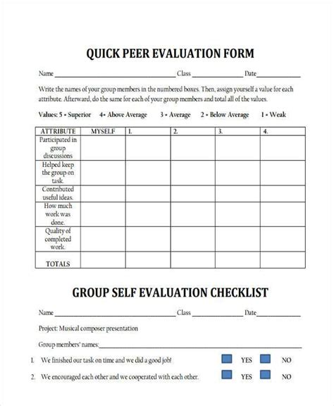Peer Essay Evaluation Form by Self Evaluation Form Make A High School Appropriate One For Beginning Of The Year Write
