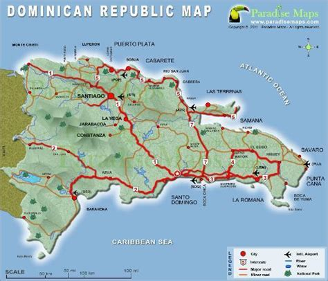 map of punta cana republic map of citys highways picture of punta cana la altagracia province