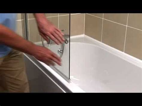 what to use to seal bathtub how to replace an over bath screen seal youtube