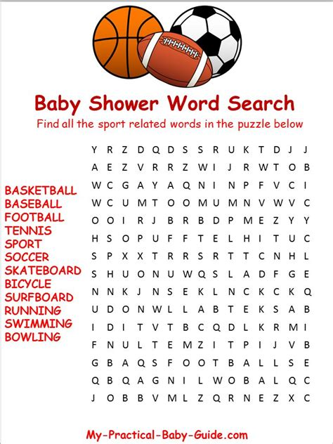 printable wrestling word search free printable sport baby shower word search click to