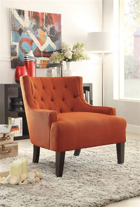 Orange Chairs Living Room Homelegance Dulce Accent Chair Orange 1233rn Homelegancefurnitureonline