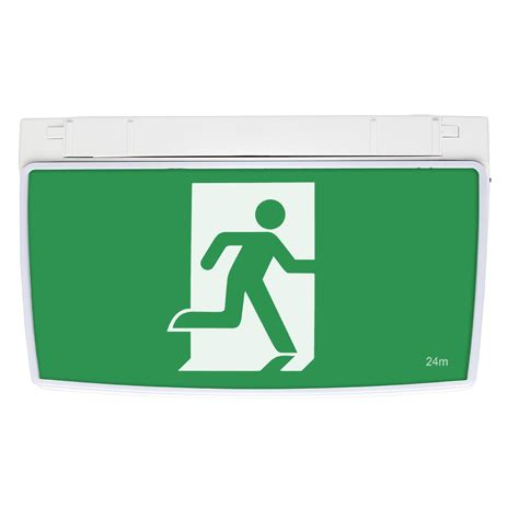 exit sign light box one box led exit sign with emergency downlight brilliant