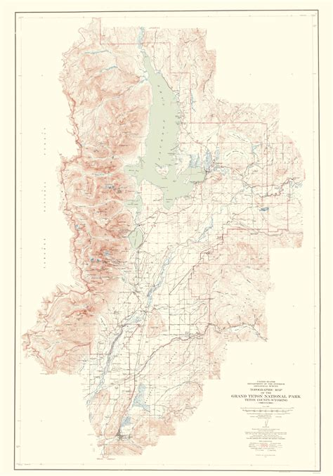 grand teton national park map topographical map grand teton national park wyoming