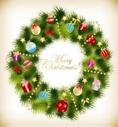 Christmas garland wreath vector illustration free vector graphics