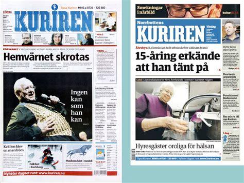 modern tabloid layout norrbottens kuriren g 229 r fra berliner til tabloid avisdesign