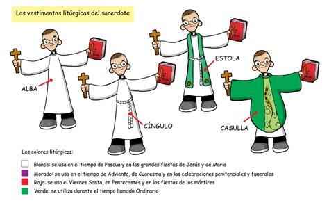 imagenes de las vestimentas del sacerdote dibujos para catequesis vestimenta lit 218 rgica del sacerdote