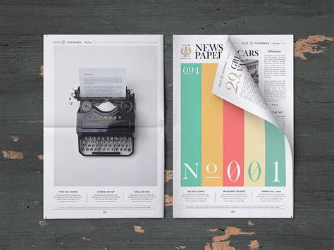 digital mock up design review newspaper mockup freebie download photoshop resource