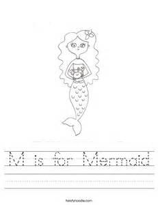 mermaid worksheet twisty noodle