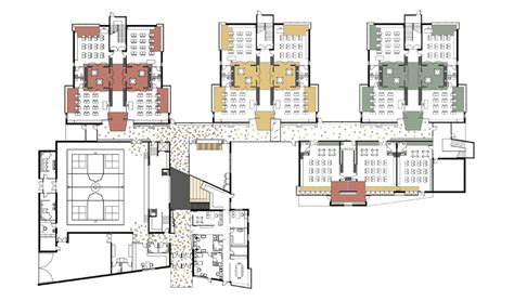 floor plan school elementary school building design plans greenman