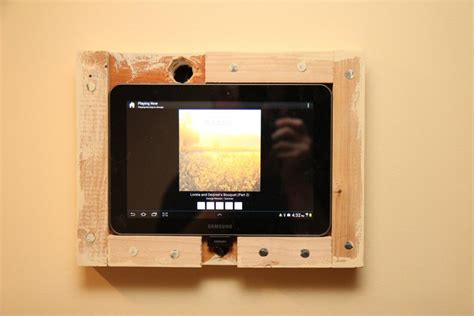 tablet wall mount diy tablet on the wall for music playback advice needed