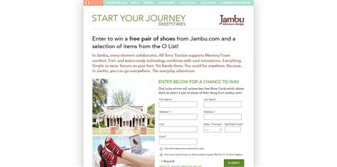 Journeys Sweepstakes - omagonline com jambu o the oprah magazine start your journey sweepstakes