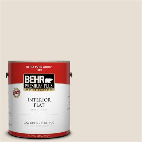 behr premium plus 1 gal 73 white flat interior paint 105001 the home depot