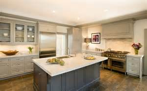 Dove Grey Kitchen Cabinets Dove Gray Cabinets And Charcoal Island With Medium Floors We Could Do White Cabinets And A