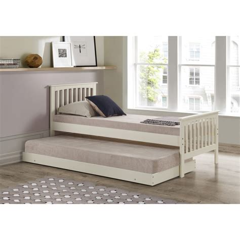trundle bed with mattress included oxford single guest bed in cream trundle bed included