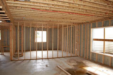 basement framing   frame  unfinished basement