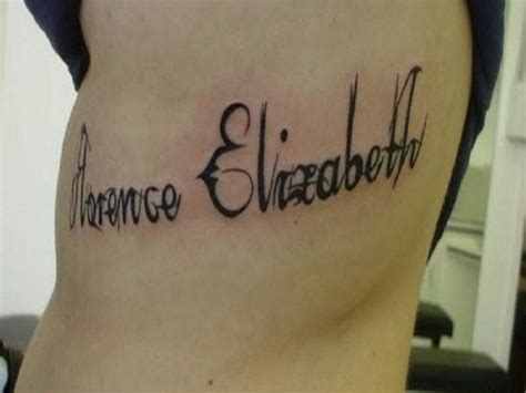 unique name tattoos unique personalized name words for rib