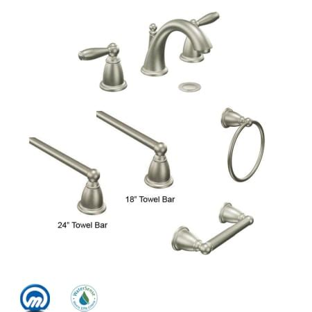 bar with faucet combo moen brantford combo bn brushed nickel with widespread