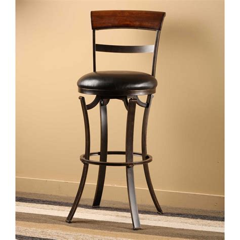 bar stools cherry wood kennedy 26 quot swivel counter stool with cherry wood top
