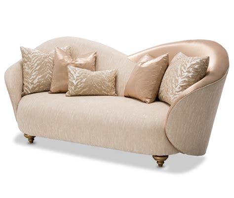 michael amini camelia sofa camelia contemporary luxury brightgold sofa by michael