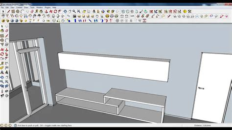 layout sketchup units google sketchup tutorial part 04 living room modeling