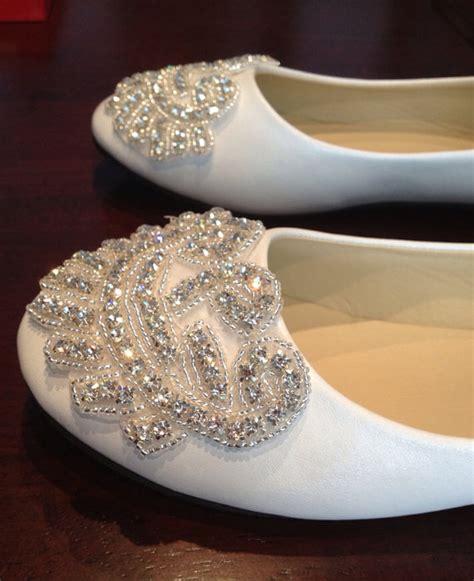 flat bridal shoes with bling items similar to flat bridal shoe rhinestone shoe wedding