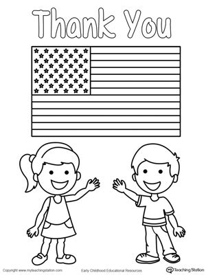 Preschool Coloring Pages For Memorial Day | memorial day thank you heros myteachingstation com
