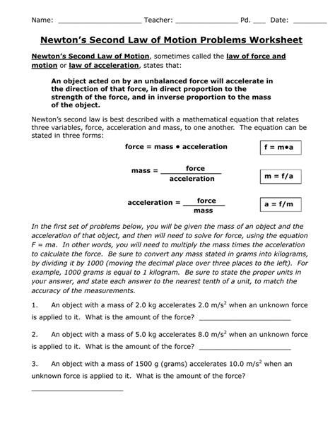 And Motion Worksheet Answers by Uncategorized Problems Worksheet Klimttreeoflife