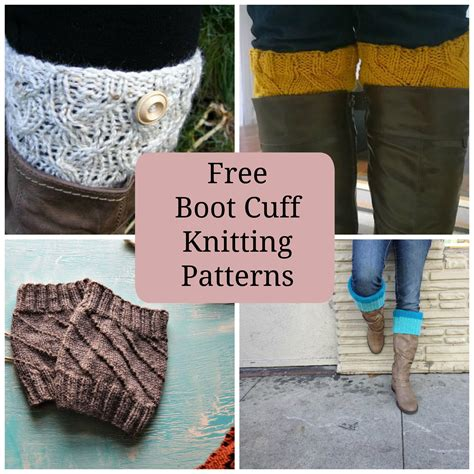 free pattern to knit boot cuffs 8 quick free knitted boot cuffs