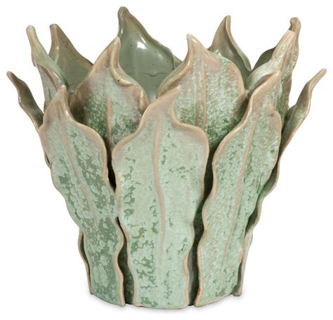 Leaf Vase by Small Sea Leaf Vase Tropical Vases By Imax Worldwide Home