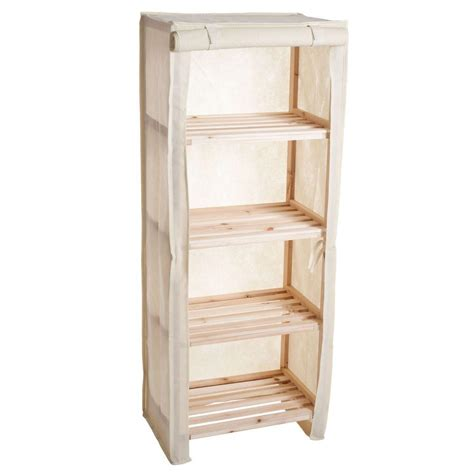 Wood Storage Rack Cover by Lavish Home 4 Tier Wood Storage Shelving Rack With