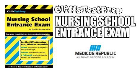 Nursing School Entrance Pdf - cliffstestprep nursing school entrance pdf free