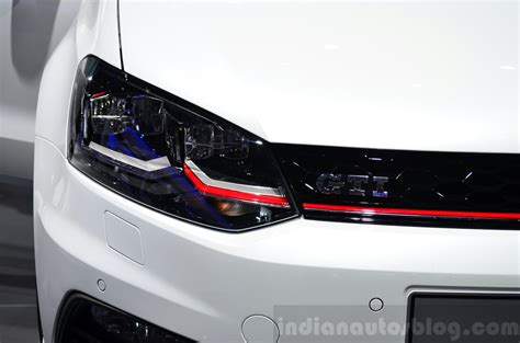 volkswagen polo headlights 2015 vw polo gti headlight at the 2014 paris motor show
