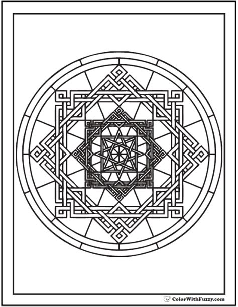 complicated geometric coloring pages circle designs geometry www pixshark com images