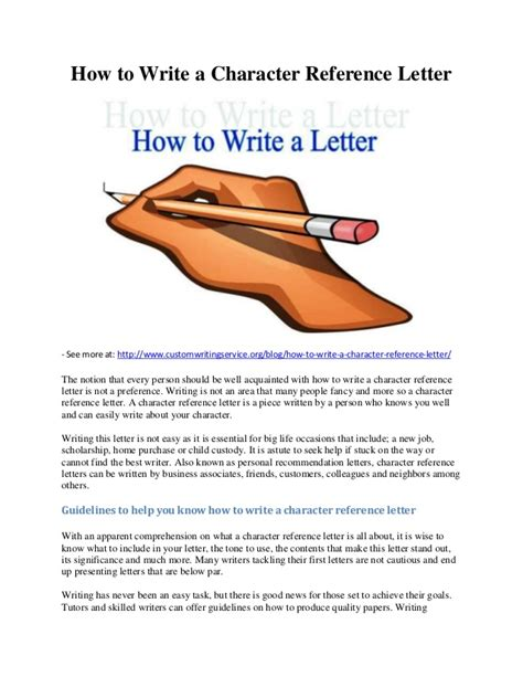 How To End A Character Reference Letter For Court How To Write A Character Reference Letter