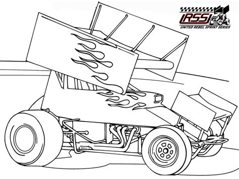 coloring pages of stock cars sprint car coloring pages 3a9c5e22be sprint car coloring