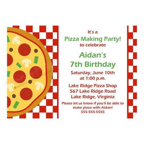 printable pizza party invitation template printable pizza party invitation
