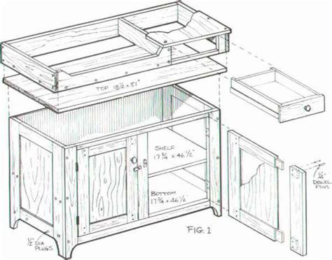 colonial dry sink furniture designs woodworking archive